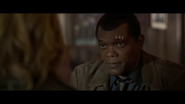 Captain Marvel Nick Fury with Stitched Eyebrow