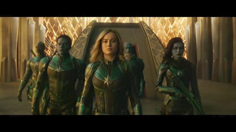 Captain Marvel with Kree Team