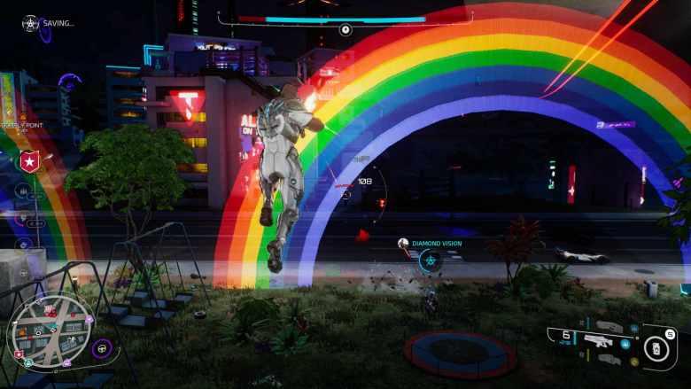 Crackdown 3 Shooting at Rainbow