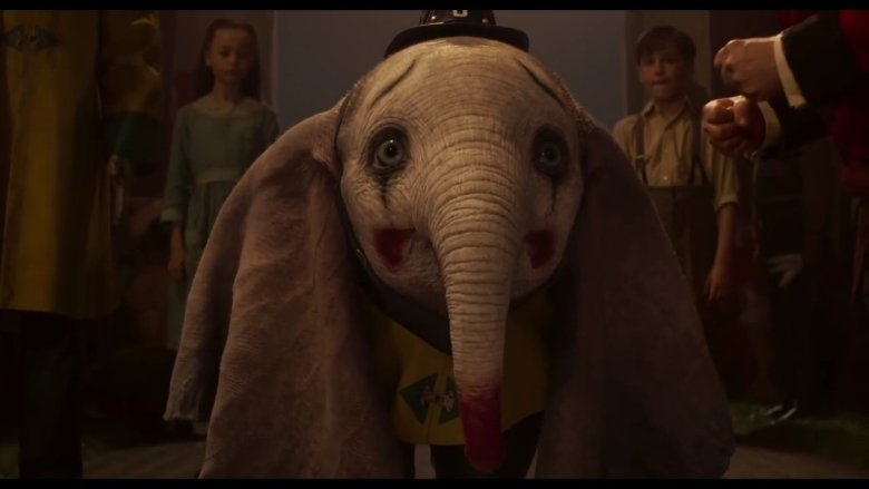 Dumbo in Clown Makeup