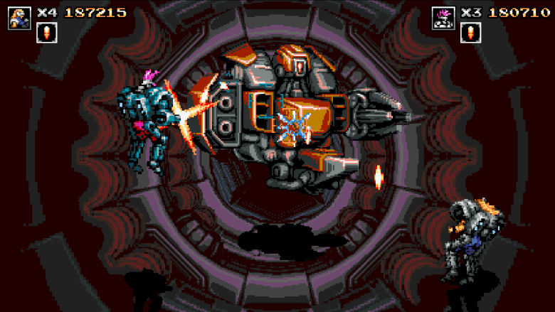 Blazing Chrome Tunnel Boss