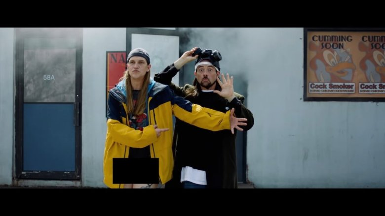 Jay and Silent Bob Standing in Front of Store