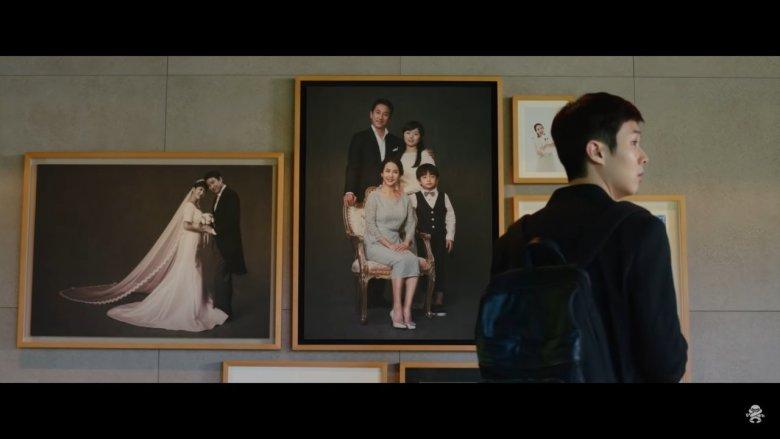 Family Photos in Hallway