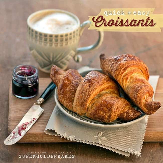 Make these quick and easy croissants from scratch, using this quick-method dough. Great for beginners and well worth the effort!