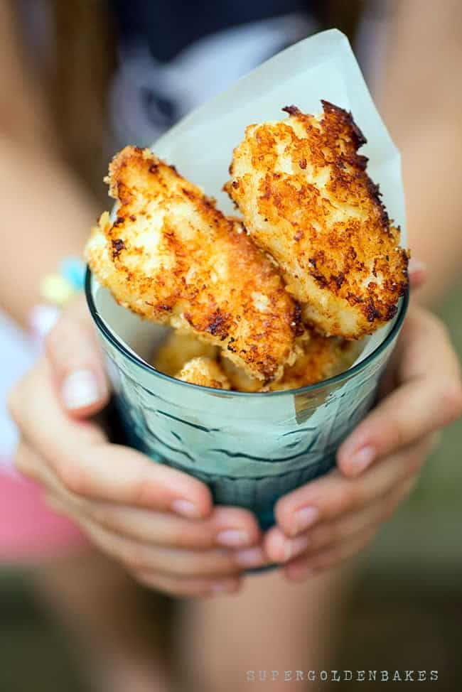 Grown up fish fingers with easy tartar sauce - made in an airfryer