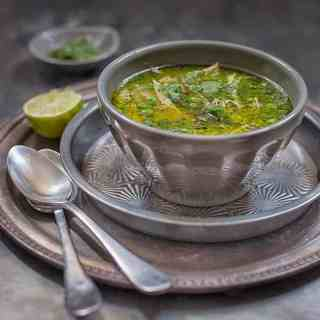 Peruvian aguadito soup but with added quinoa – an updated version of this traditional chicken soup that's healthy, filling and delicious.