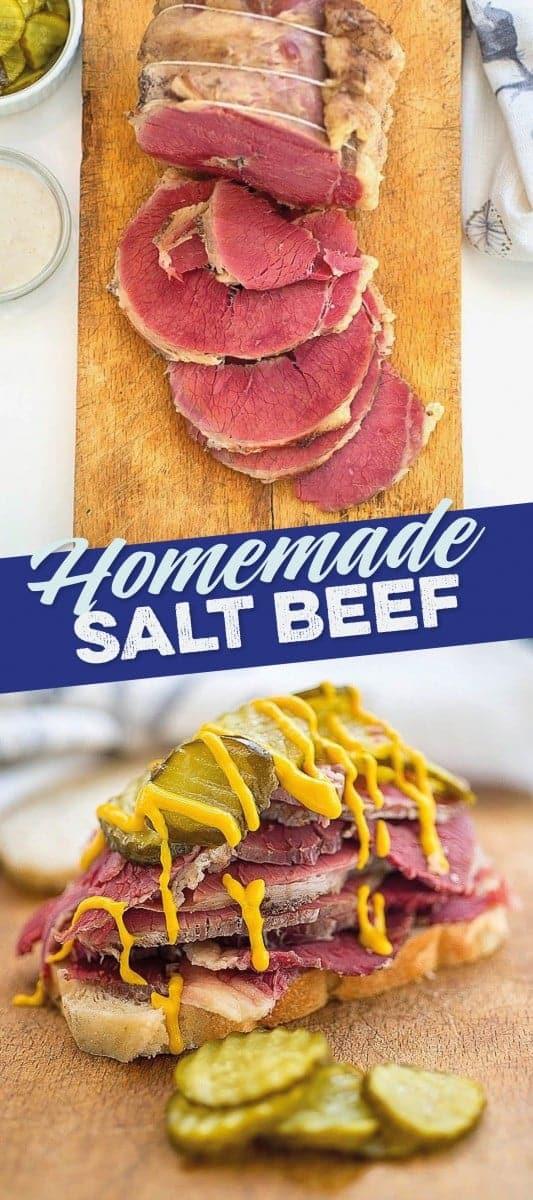 Homemade salt beef pin