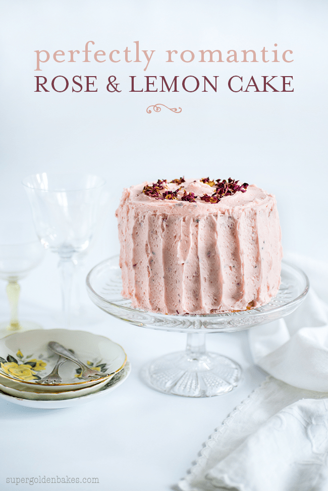 Perfectly romantic and delicately scented, this mini rose and lemon layer cake is perfect for Valentine's Day, baby and wedding showers.