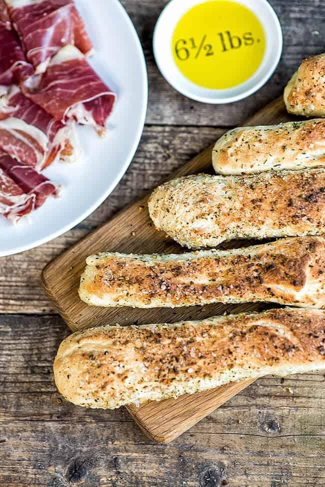Garlic and herb pizza sticks