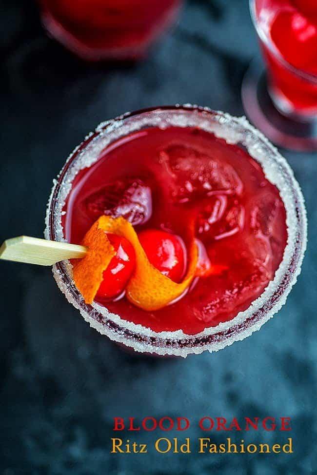 Blood Orange Ritz Old-Fashioned Cocktail
