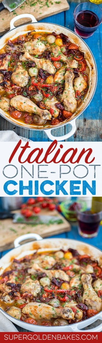 Drunken Italian chicken: this delicious one-pot chicken dish is extremely easy to prepare and sure to become a family favourite.