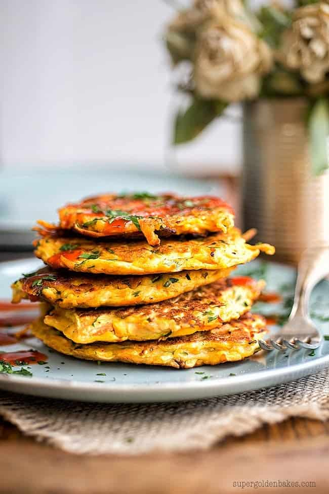 Spicy vegetable pancakes | Supergolden Bakes