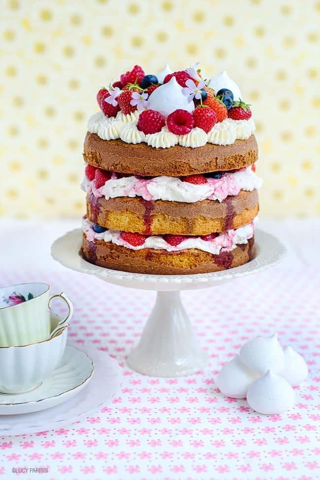 Totally Summery Eton Mess Cake   Supergolden Bakes