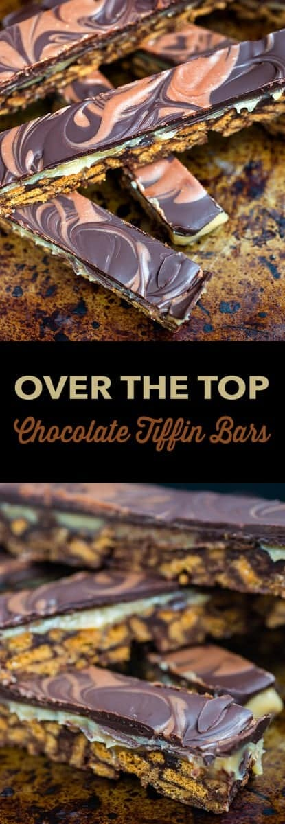 These super addictive, OTT chocolate caramel tiffin bars are the perfect bo-bake indulgent treat. Cut into small pieces and share responsibly! | Supergolden Bakes