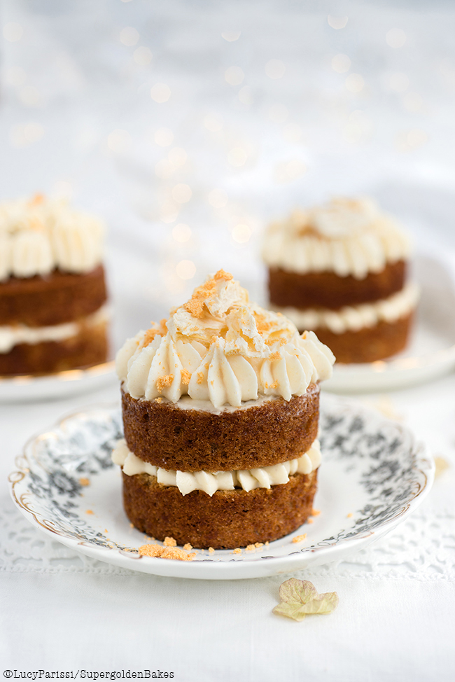 Mini Hummingbird Cakes with Cream Cheese Pineapple frosting