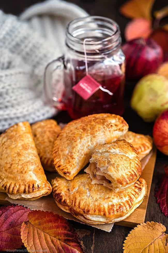 Easy spiced apple turnovers with puff pastry