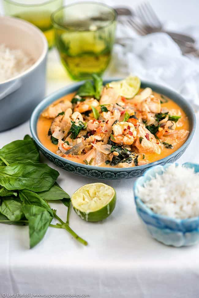 One-pot Thai Fish Stew - on the table in 30 minutes!