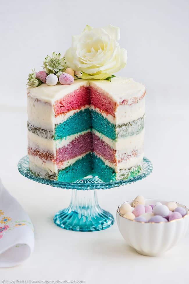 Naked cake with unicorn layers