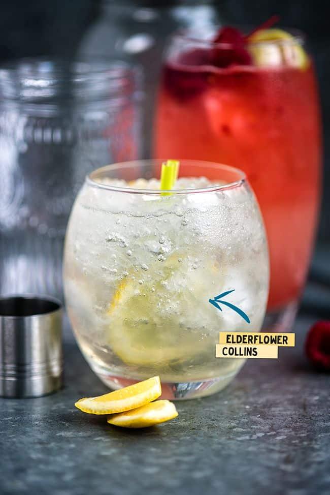 Elderflower Collins - wonderfully refreshing gin cocktail