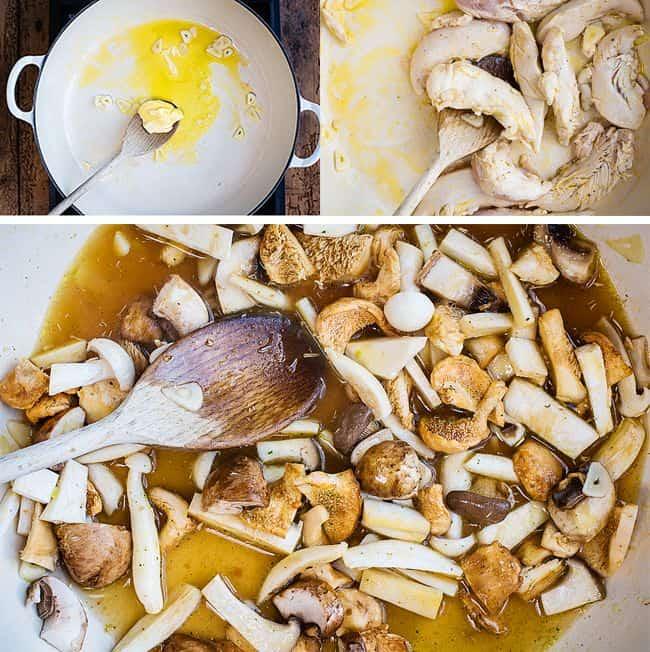 Tagliatelle Pasta with Garlic Mushrooms