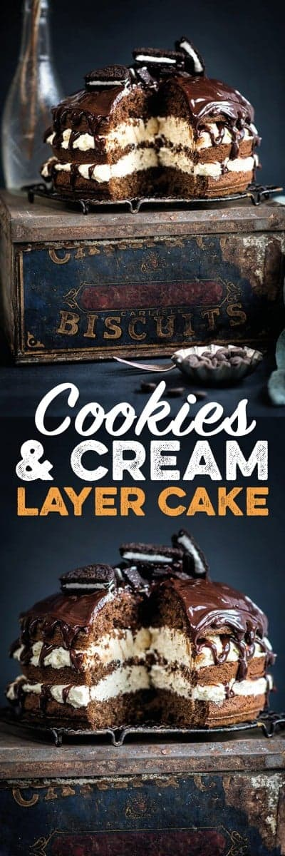 Cookies and cream layer