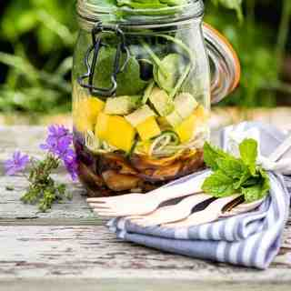 Thai Beef Salad in a Jar – a portable recipe that tastes equally amazing al fresco or at your office desk