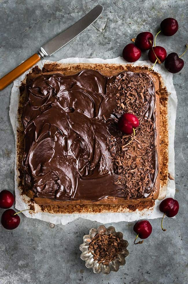 Seriously good chocolate-frosted Seriously good chocolate-frosted Black Forest brownies | Supergolden Bakesblack forest brownies | Supergolden Bakes