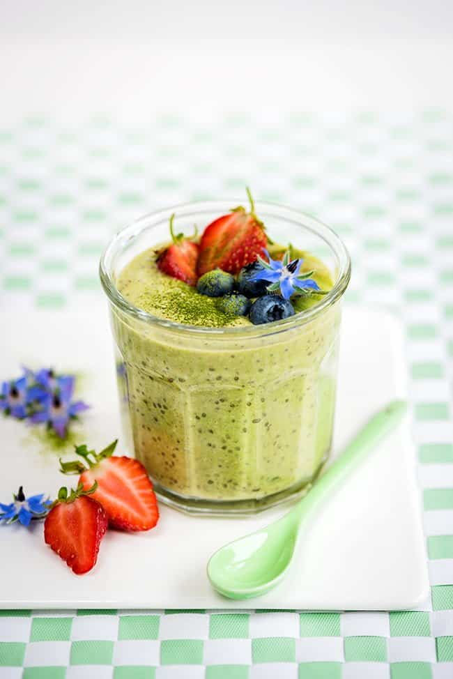 Overnight oats may be my favourite breakfast. All you need is a few minutes of prep the night before. Serve with a handful of strawberries, blueberries and sliced kiwi fruit.