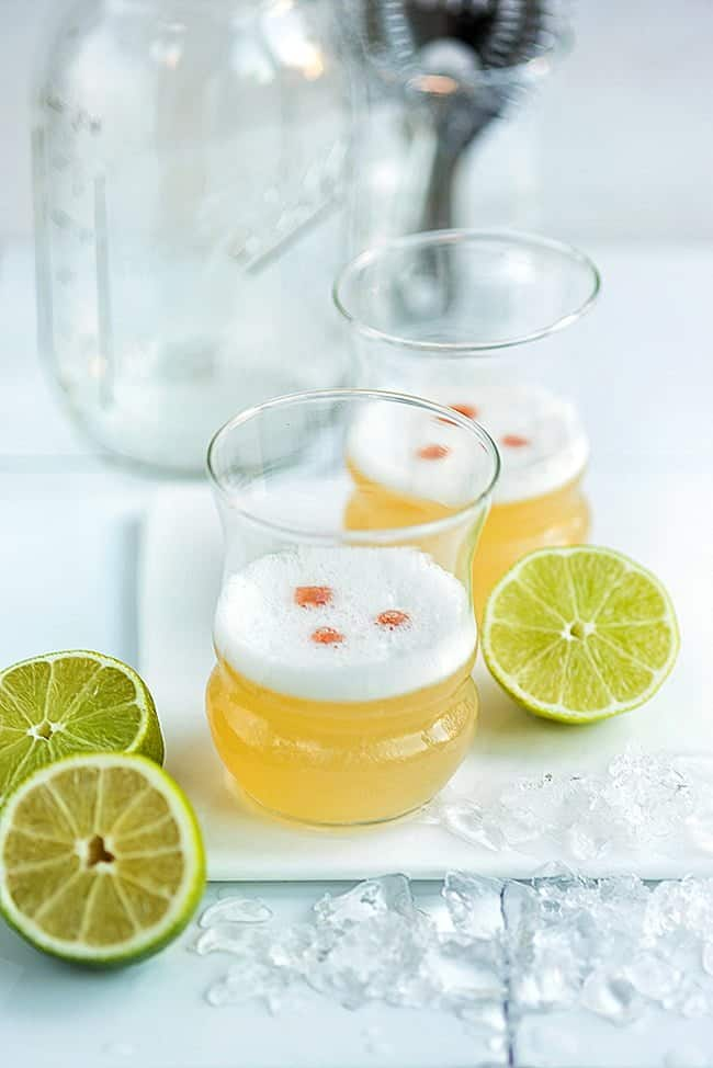 Pisco sour with a twist! This may well be my favourite cocktail.