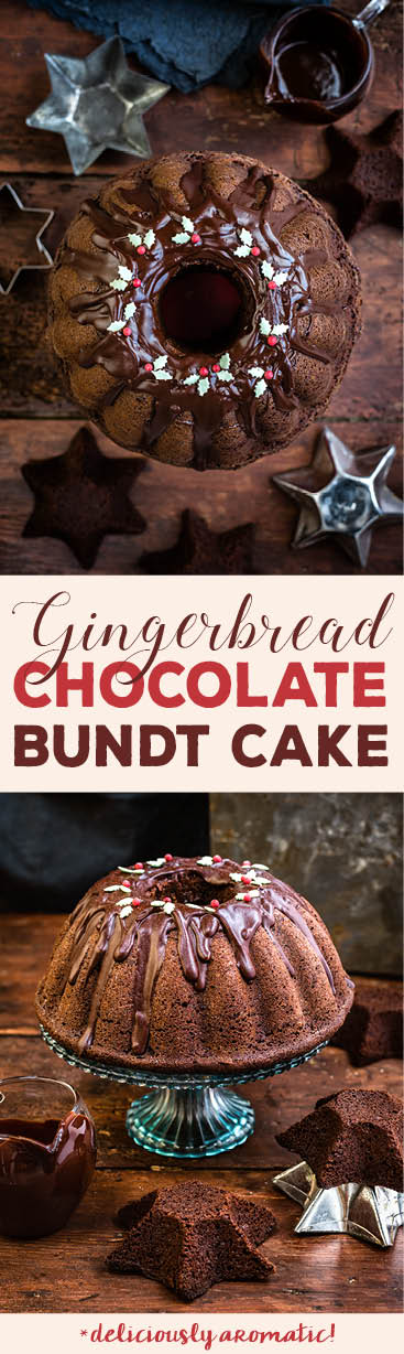 Christmas Chocolate Gingerbread Bundt Cake