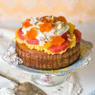 Citrus trifle cake with orange blossom pastry cream – a delicious, fragrant take on traditional English trifle.
