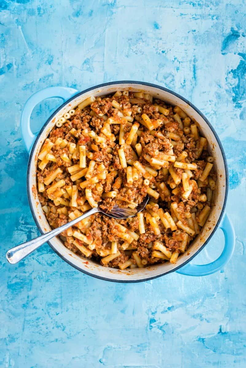 Greek Pastitsio recipe - beef mince and pasta bake that closely resembles lasagne but is easier to make and a true family favourite