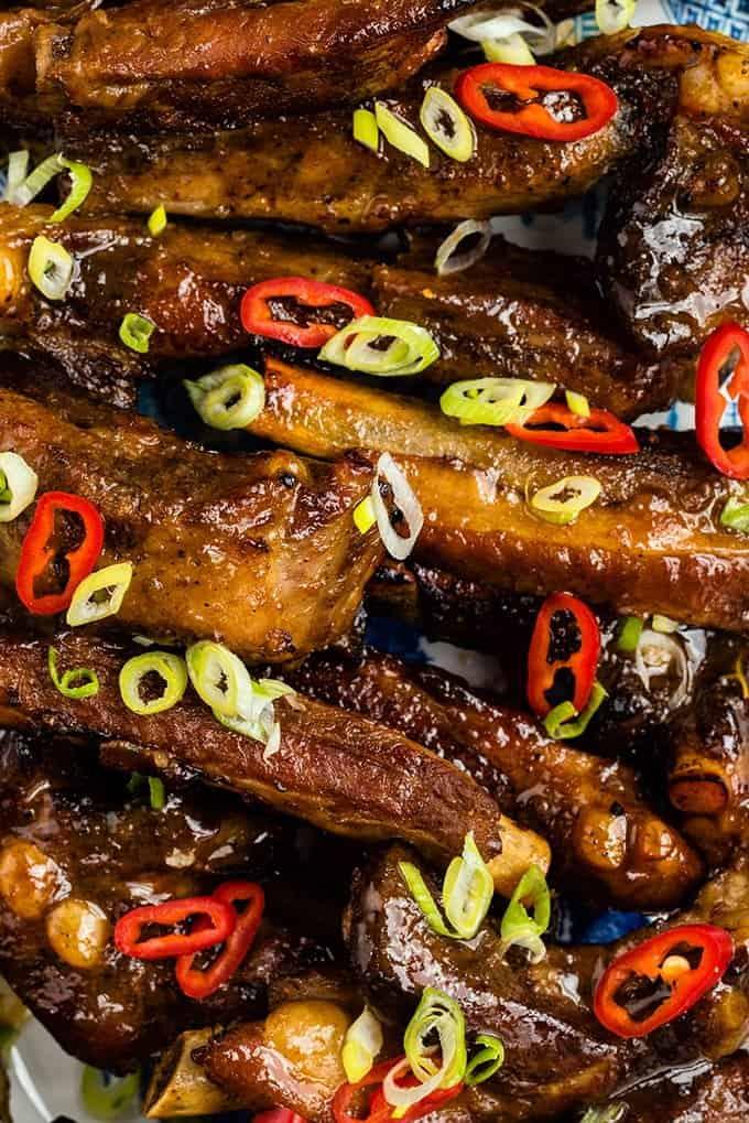 Five spice teriyaki slow cooker ribs