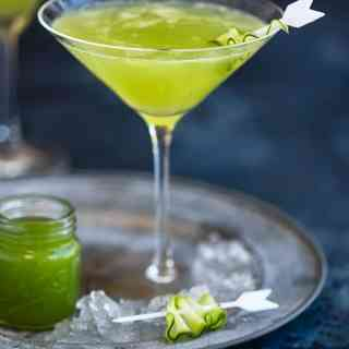 Refreshing cucumber gin martini