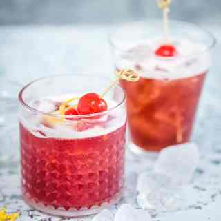 The Cherry Bomb brings bourbon and cherry brandy together and it is a marriage made in heaven. A thoroughly delightful cocktail :) #bourbon #cocktailrecipe