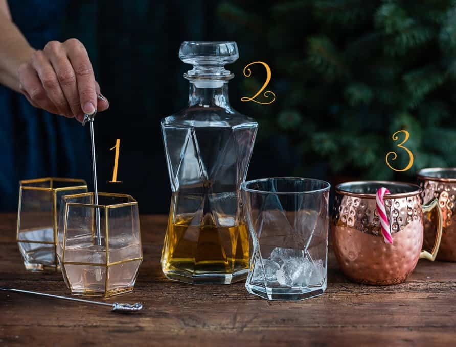 Pretty glassware make lovely gifts