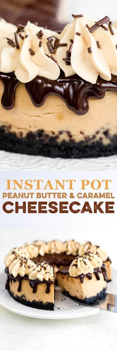 peanut butter & caramel cheesecake