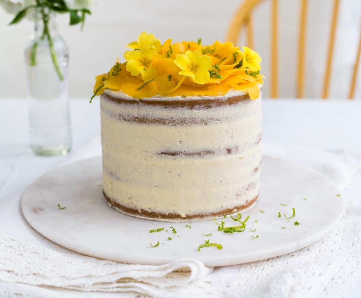 Vegan Tropical Celebration Cake
