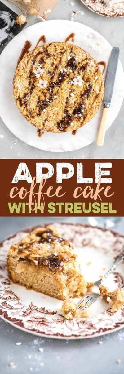 simple apple coffee cake with streusel topping