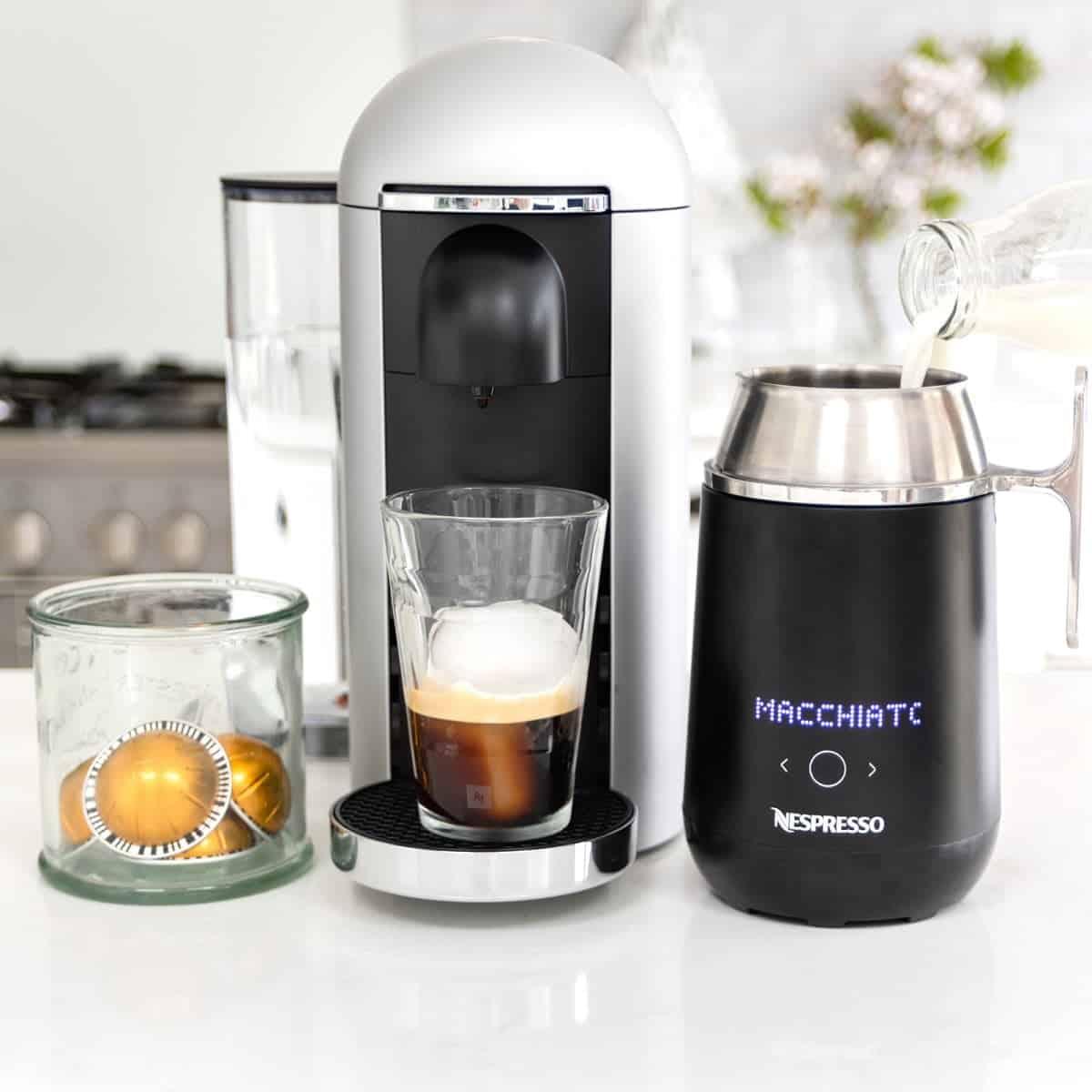 Making Nespresso on Ice Macchiato