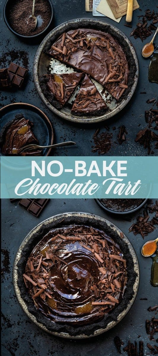 Amazing no-bake salted caramel chocolate tart