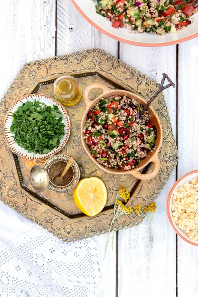Zingy Tabbouleh salad in a small bowl