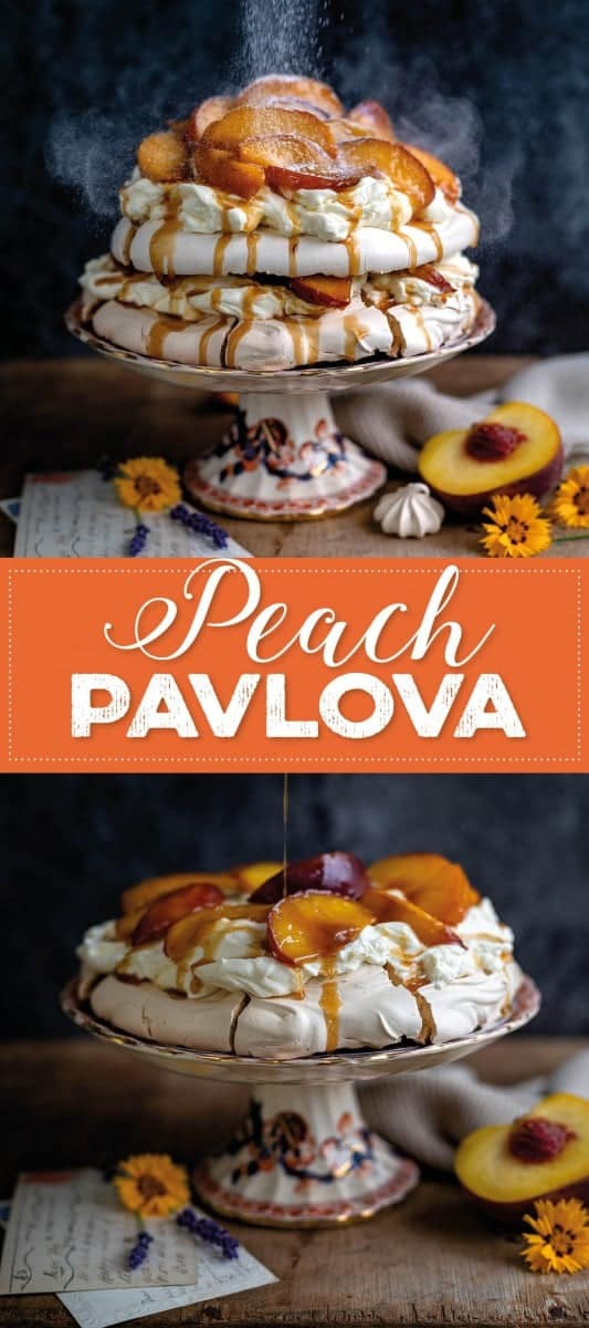 Peach pavlova pin