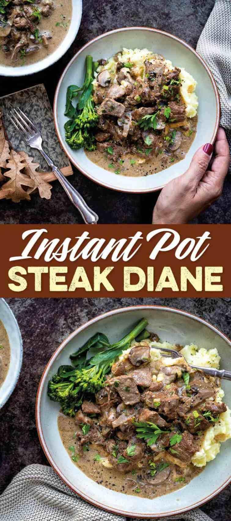 Pressure Cooker Steak Diane