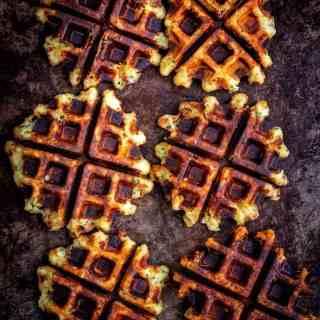 Savory potato waffles