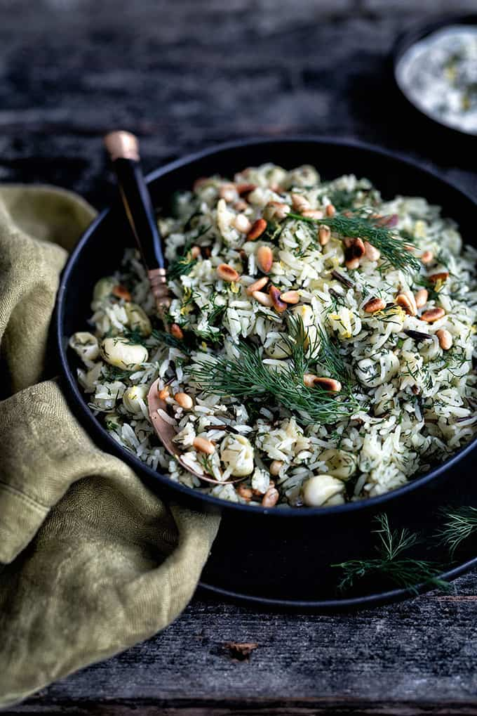 Timman Bagilla - rice with dill and broad beans