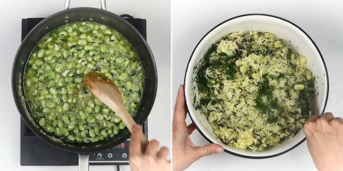 making dill rice