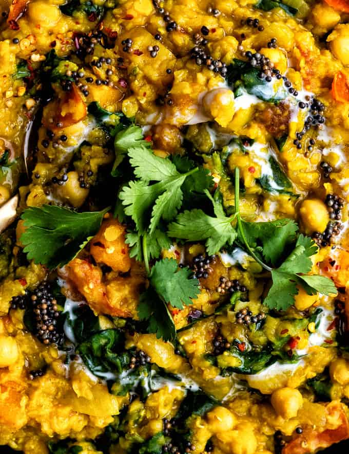 Dal curry close up view