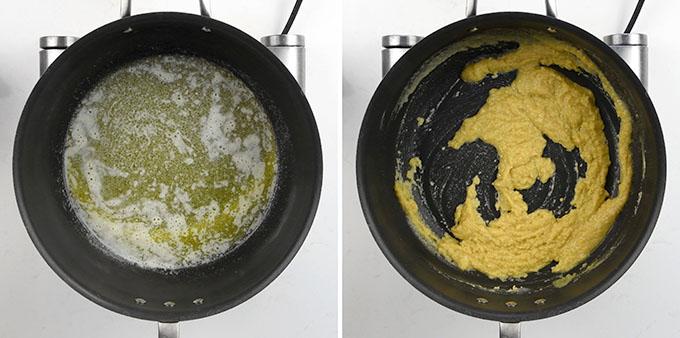 making béchamel sauce