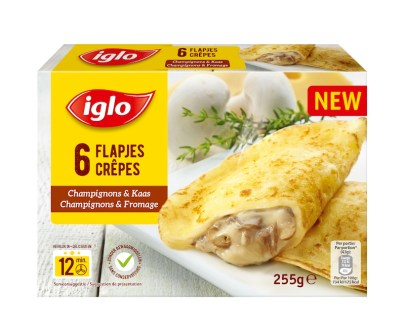 Crepes Champignons Fromage 255g web - Crêpes champignons et fromage